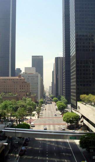 Downtown Los Angeles - Blick durch die Hochhäuser