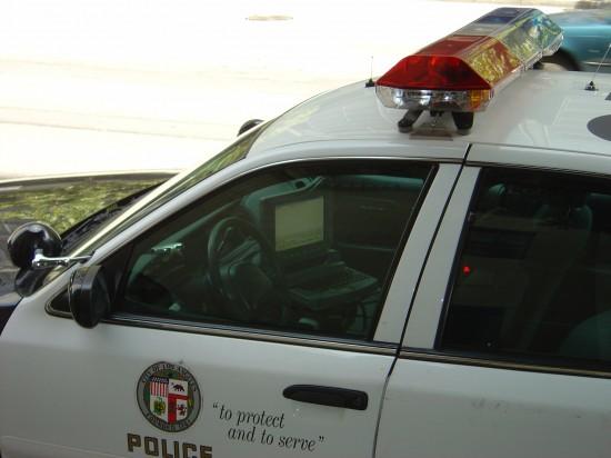 Die Polizei ist auf dem neuesten Stand - in jedem Auto ist ein Laptop montiert