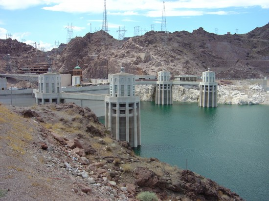 Der Hoover Staudaum am Lake Mead