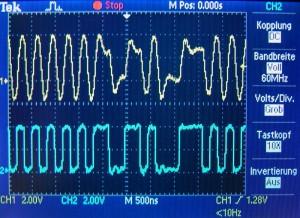 SPDIF Ausgänge an Audigy 2 ZS mit Oszi gemessen