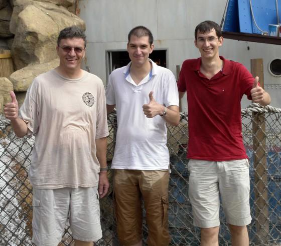Gerd, Tobias und Markus nach dem Rafting