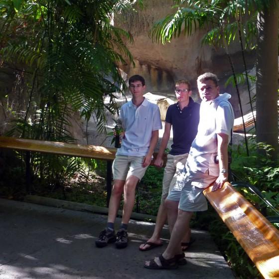 Markus, Thomas und Gerd im Zoo