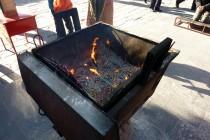 Feuerstelle im Tempel