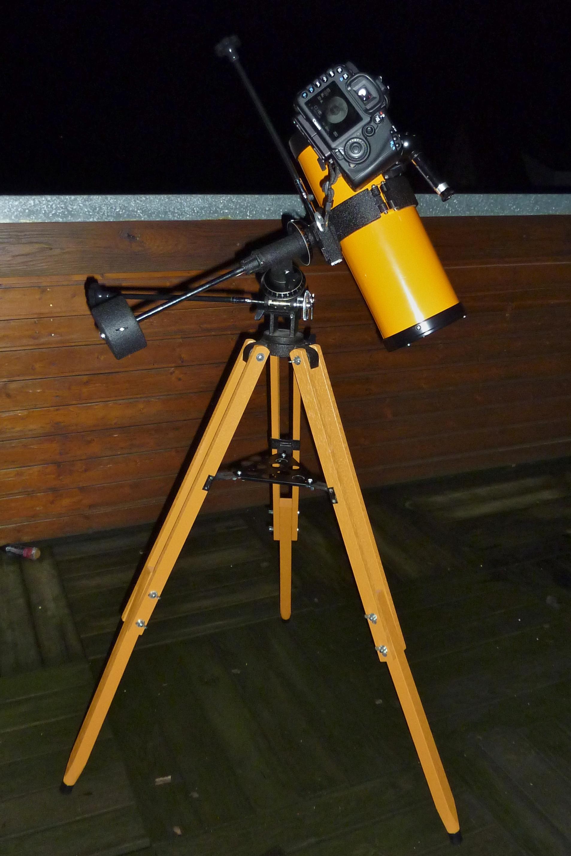 Teleskop mit mit montierter EOS 7D