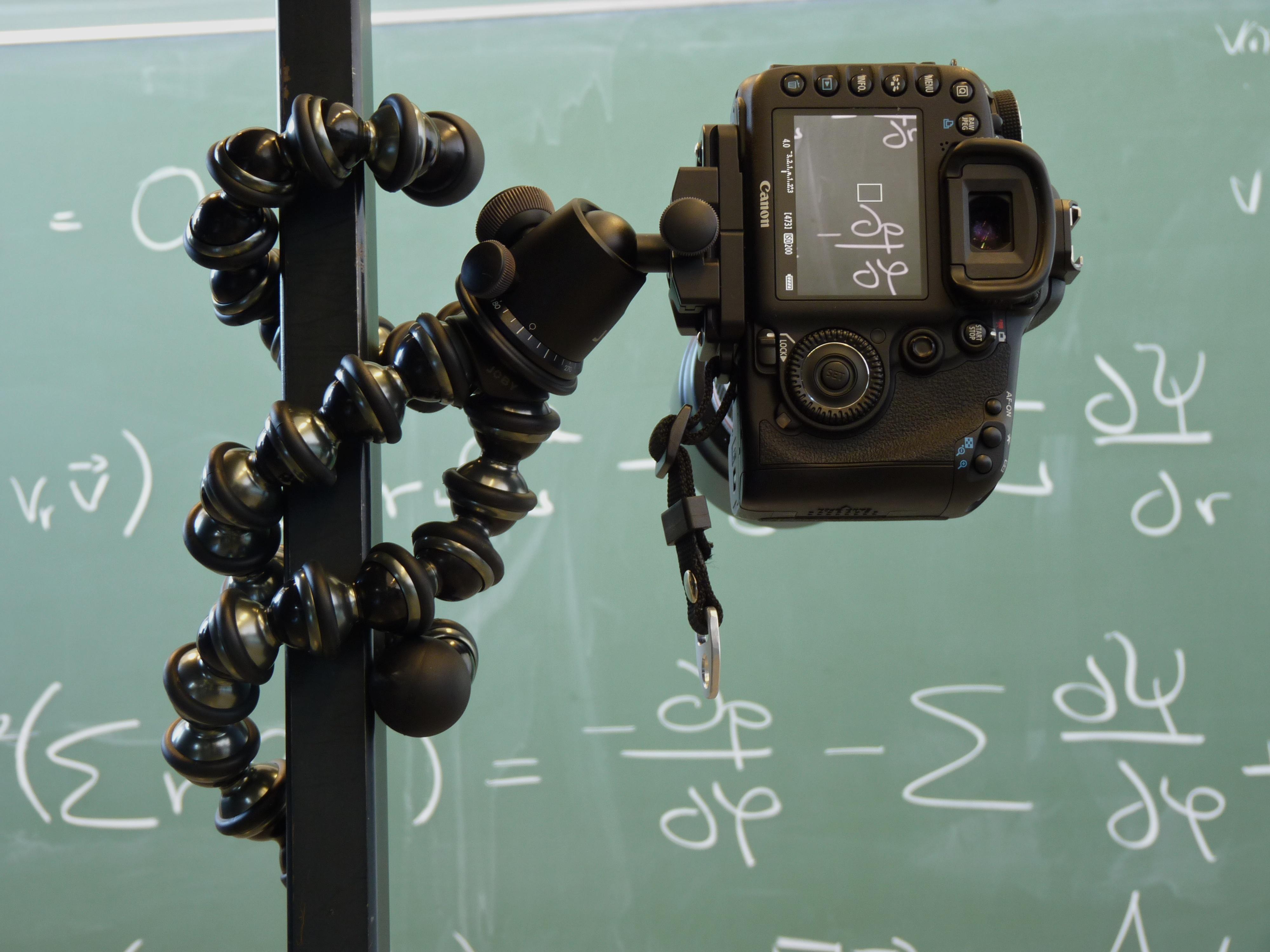 Canon EOS 7D mounted on GorillaPod Focus
