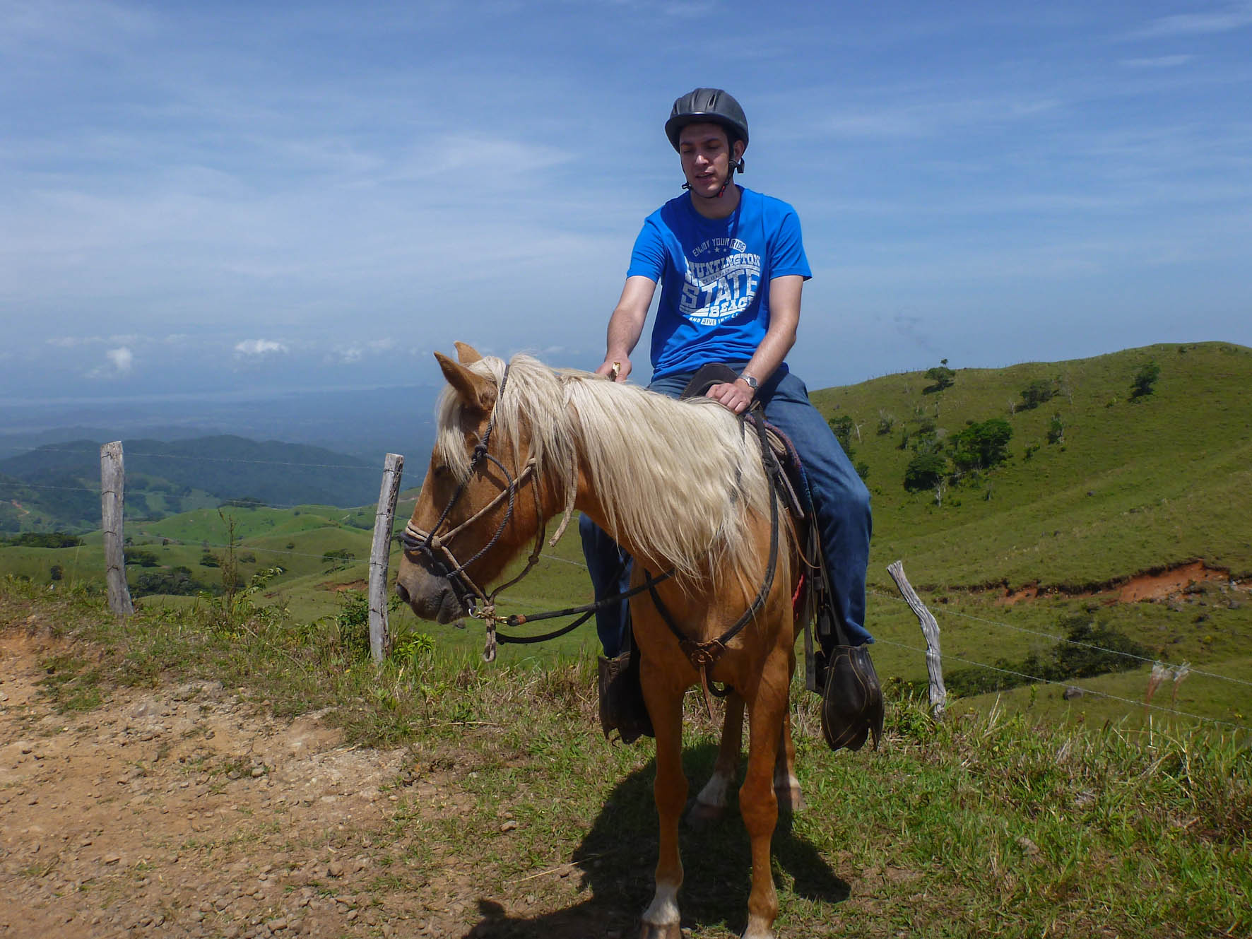 Tobias auf dem Pferd