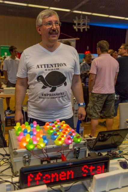Die Quietscheentchen waren ein Eyecatcher für arduino-yksim