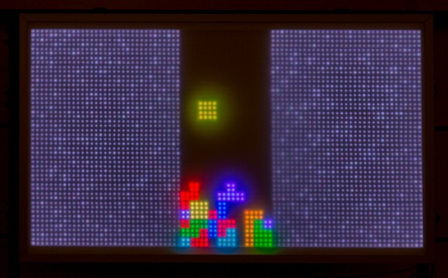 Riesige LED Videowall von Luca Zimmermann